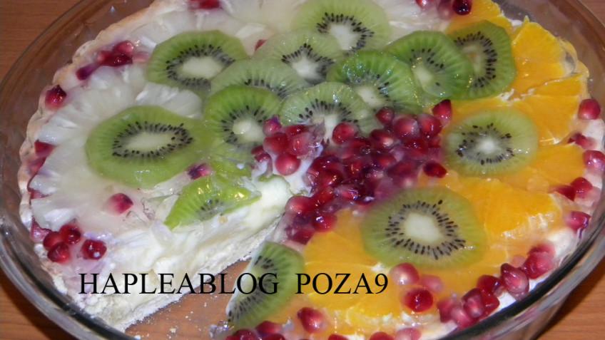 tarta cu crema de vanilie si fructe 9