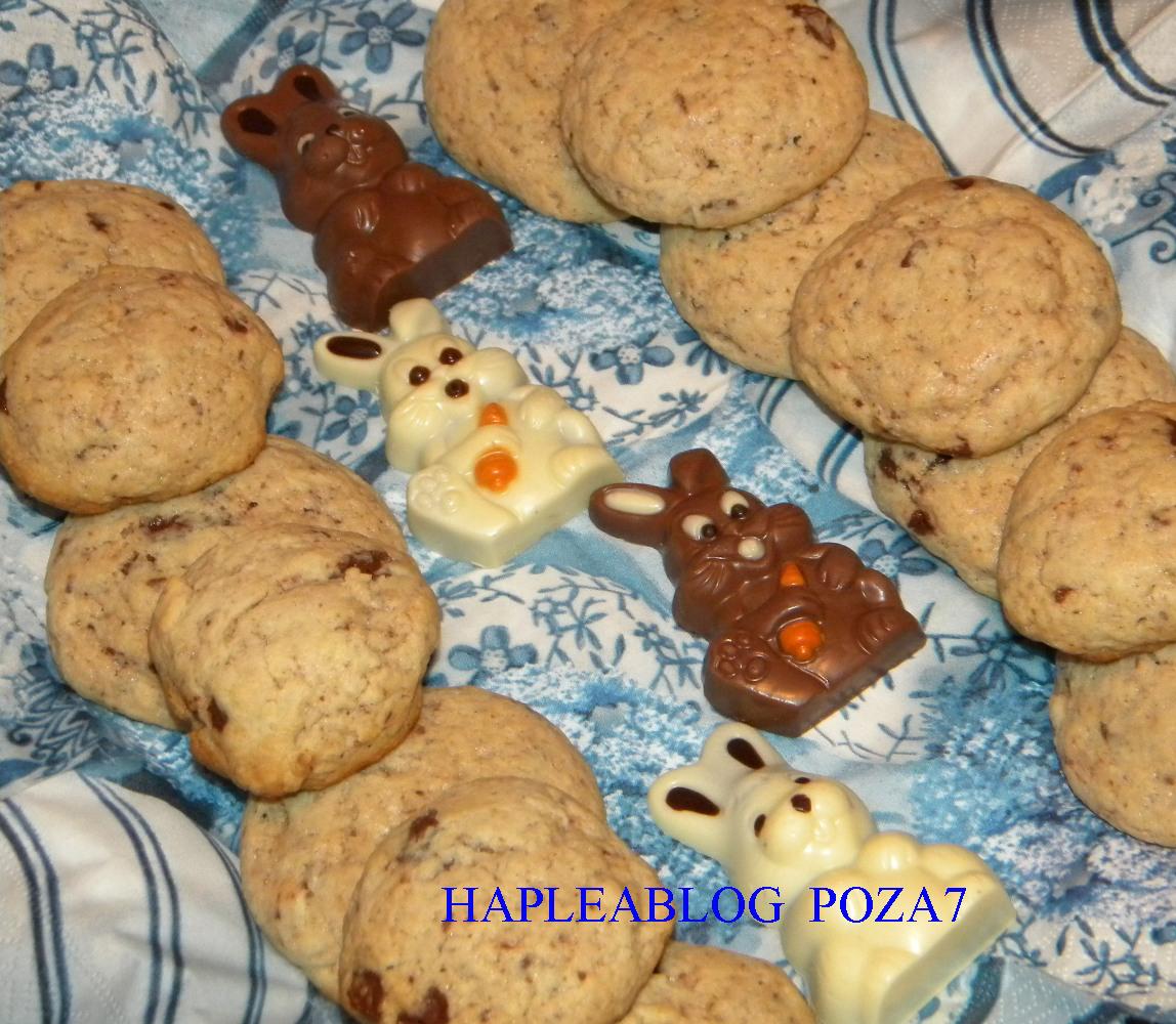 cookies cu fulgi de ciocolata