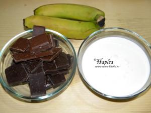 tarta cu ciocolata, banane si caramel poza 5