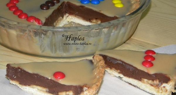 tarta cu ciocolata, banane si caramel poza final