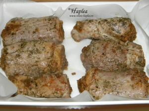 muschiulet de porc umplut cu hribi poza 10
