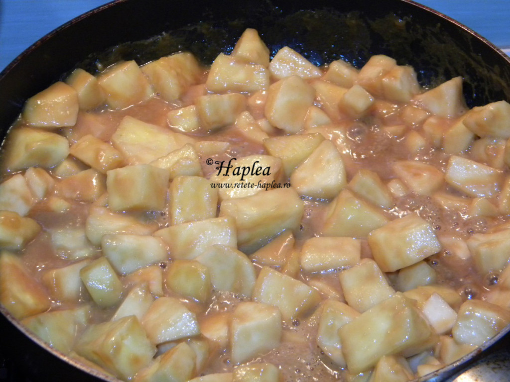 ananas cu mere caramelizate poza 4