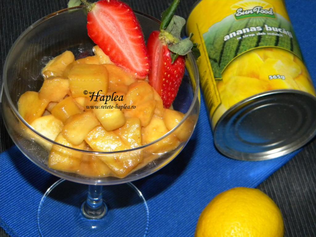 ananas cu mere caramelizate poza 5