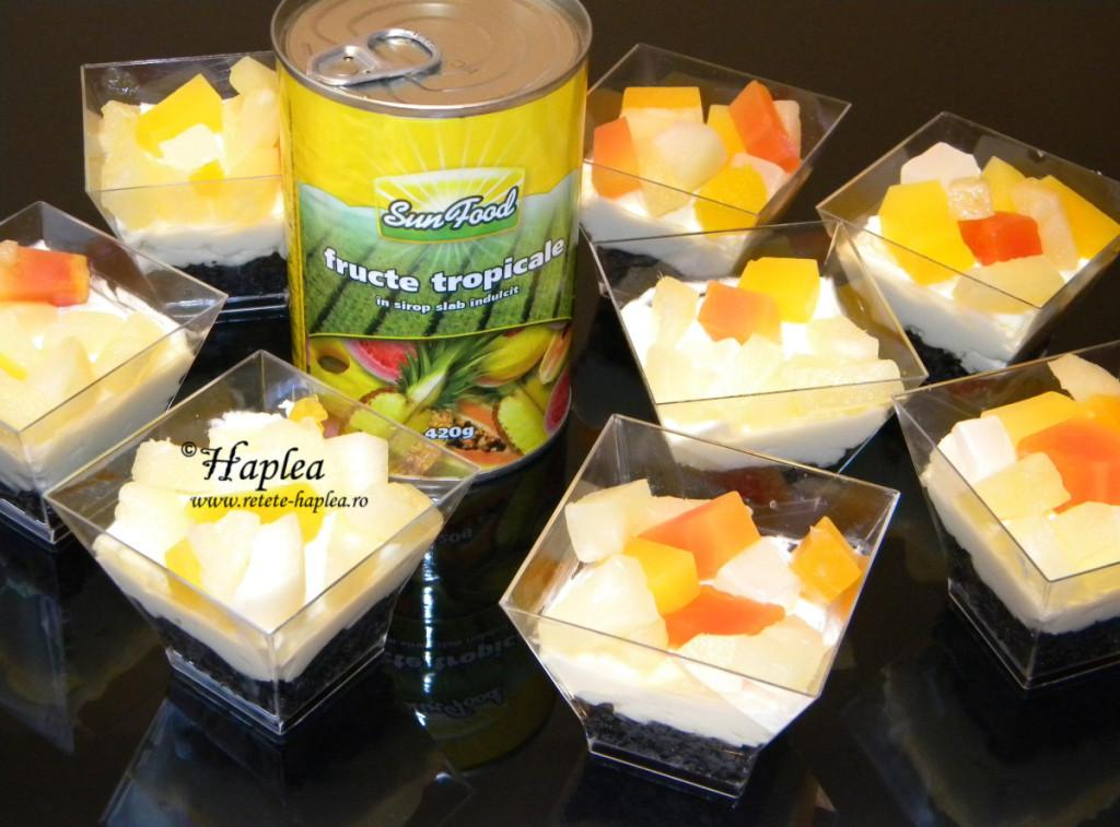 mini-cheesecake cu fructe tropicale poza 5