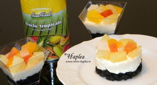 mini-cheesecake cu fructe tropicale poza final