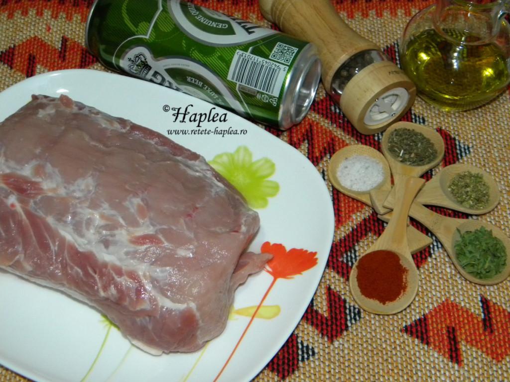 muschi de porc la cuptor cu cartofi dulci wedges poza 1