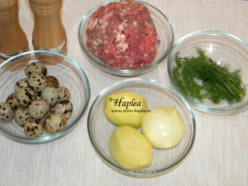 chiftele cu oua de prepelita la cuptor poza 1