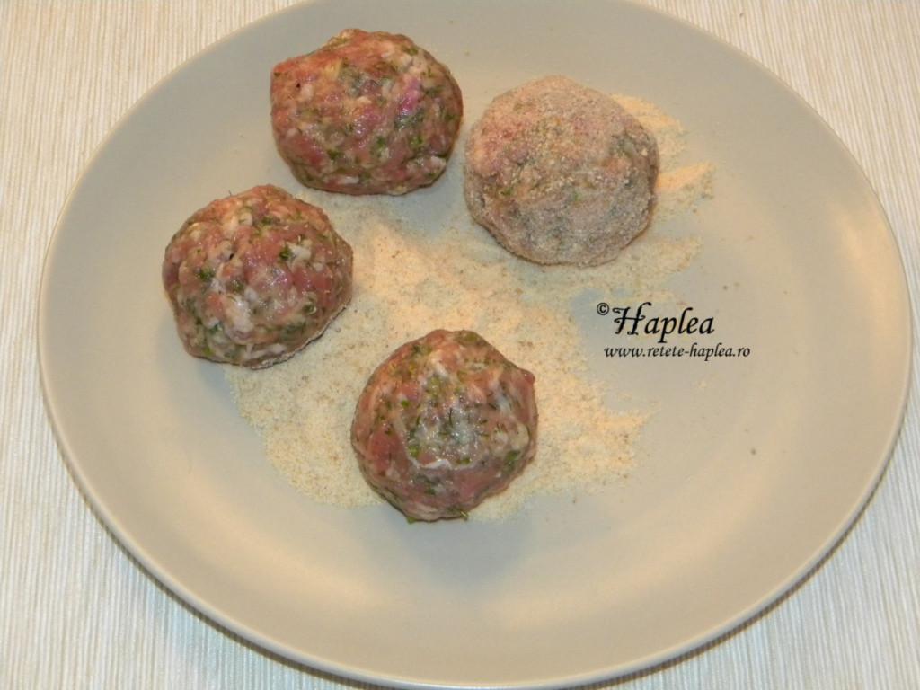 chiftele cu oua de prepelita la cuptor poza 4