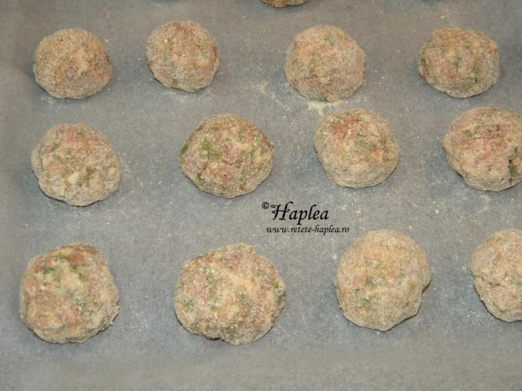 chiftele cu oua de prepelita la cuptor poza 5