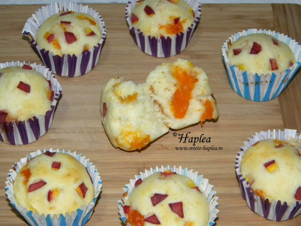 muffins cu piersici si gem de caise poza 8