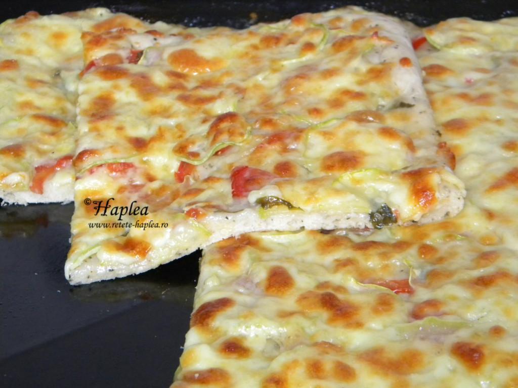 pizza cu dovlecei poza 5