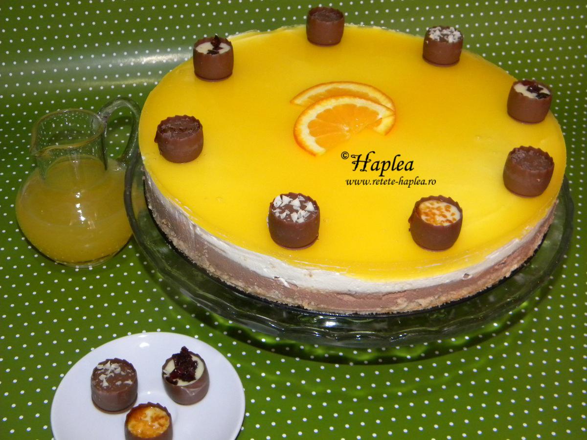 cheesecake cu jeleu de portocale poza 14