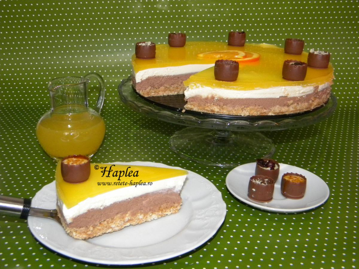 cheesecake cu jeleu de portocale poza 15