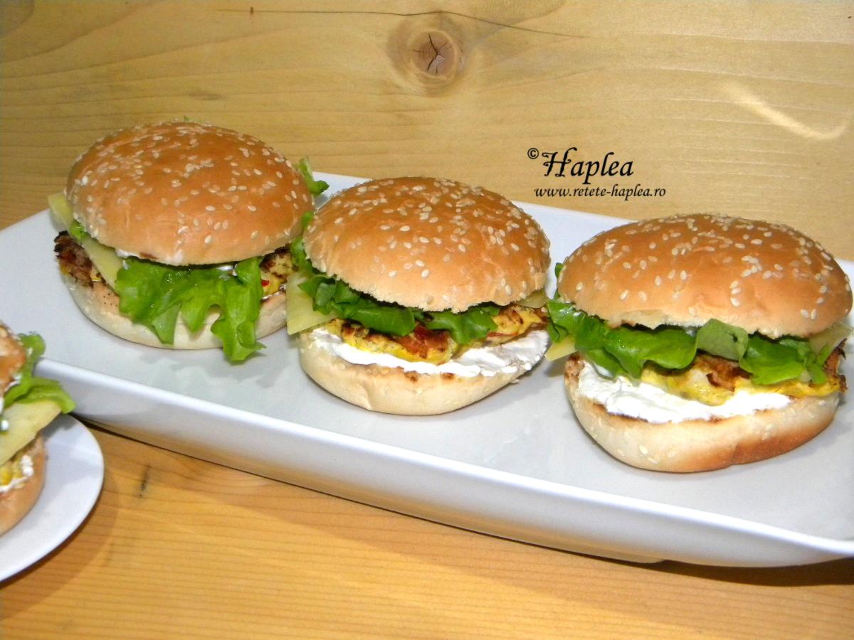 cheeseburger de pui