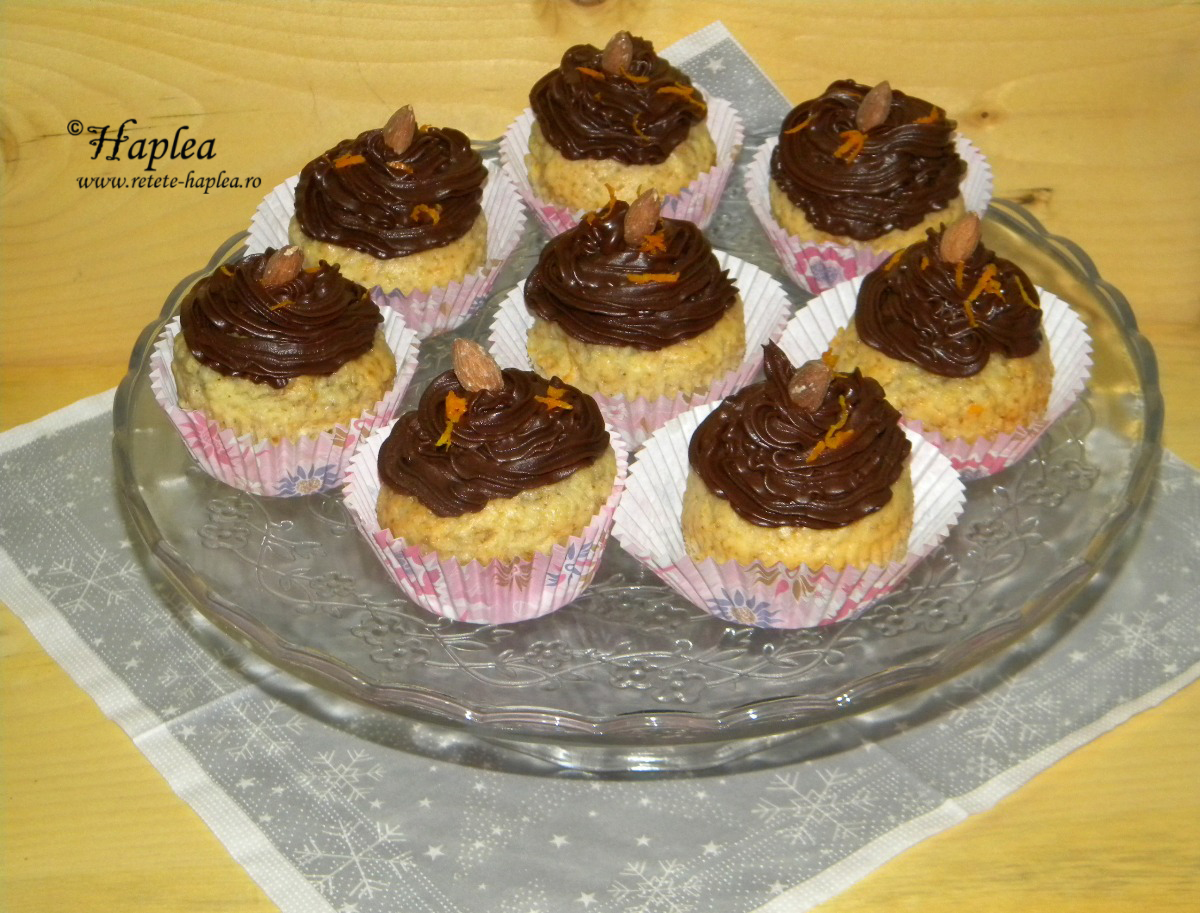 cupcakes de portocale