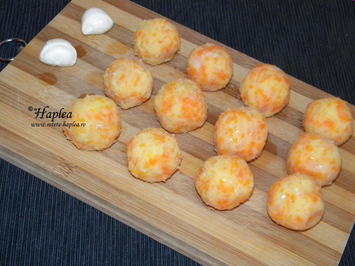bulete de cartofi cu mozzarellla poza 5
