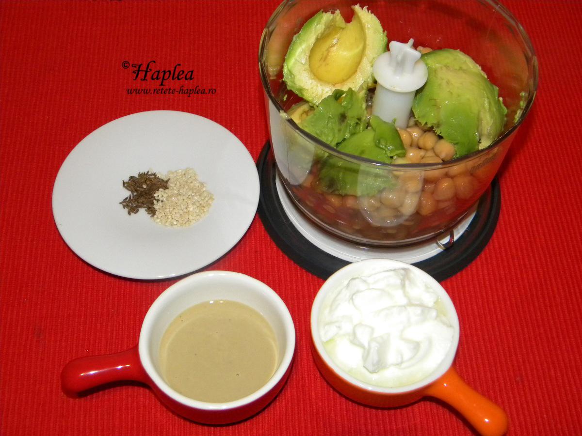 hummus cu avocado poza 2
