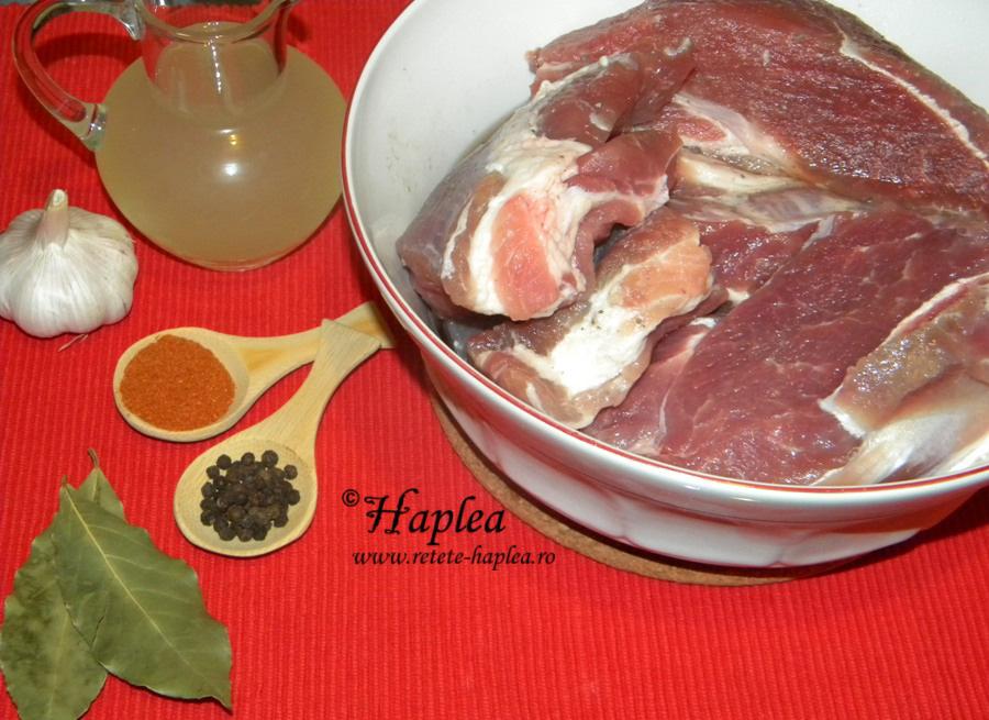 fleica de porc-mezel facut in casa poza 1