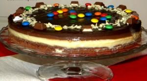 tort cu ciocolata in trei culori poza final