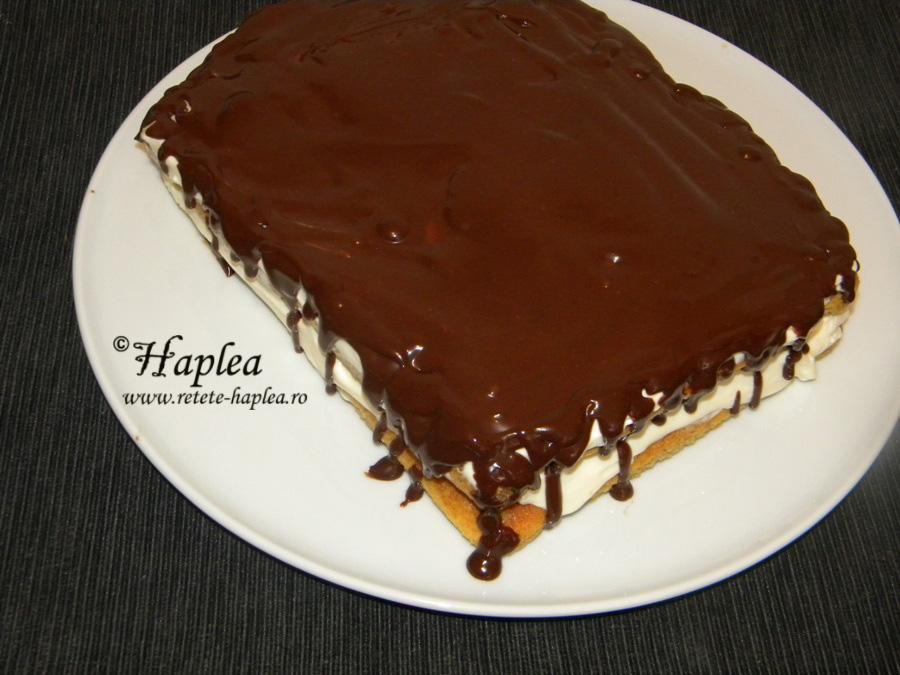 Tort Tiramisu Cu Glazura De Ciocolata Poza 10 Retete Haplea