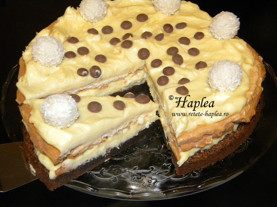 tort ciocolatos cu bezea