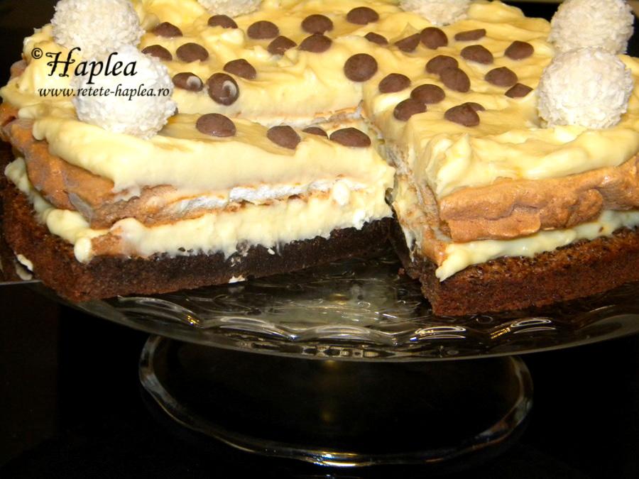 tort ciocolatos cu blat de bezea