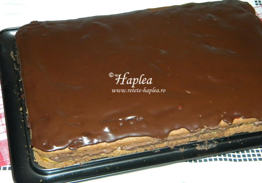 prajitura cu caramel si crema de ciocolata poza 14