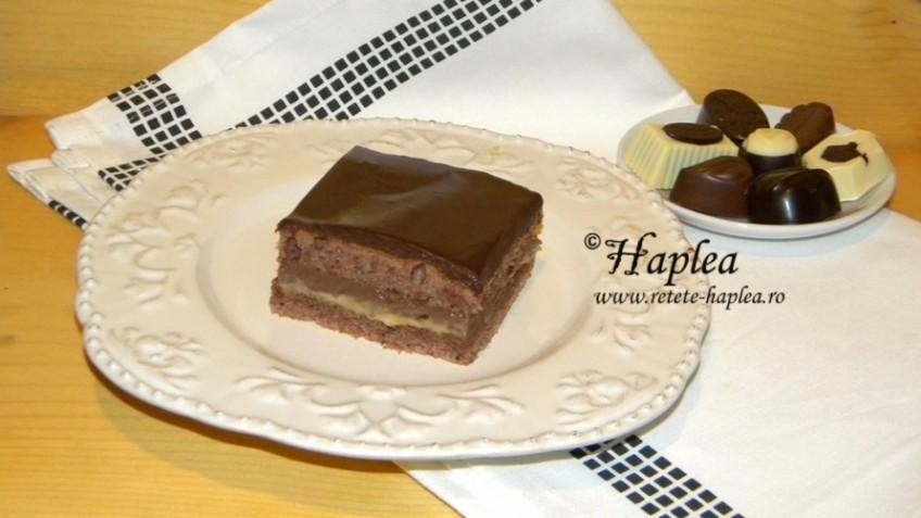 prajitura cu caramel si crema de ciocolata poza final