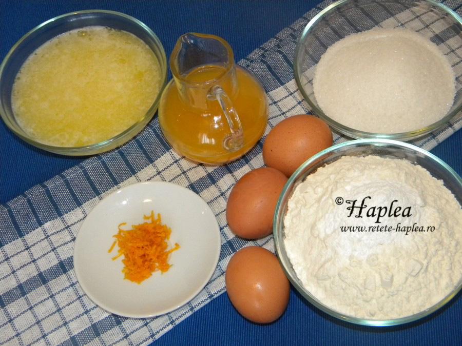 prajitura insiropata cu portocale poza 1