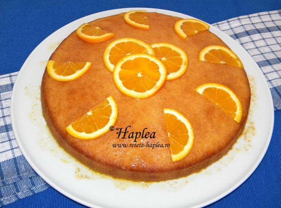 prajitura insiropata cu portocale poza 7