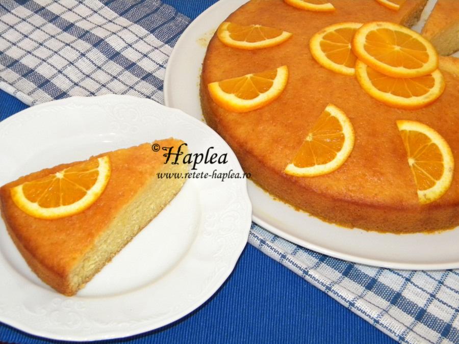 prajitura insiropata cu portocale