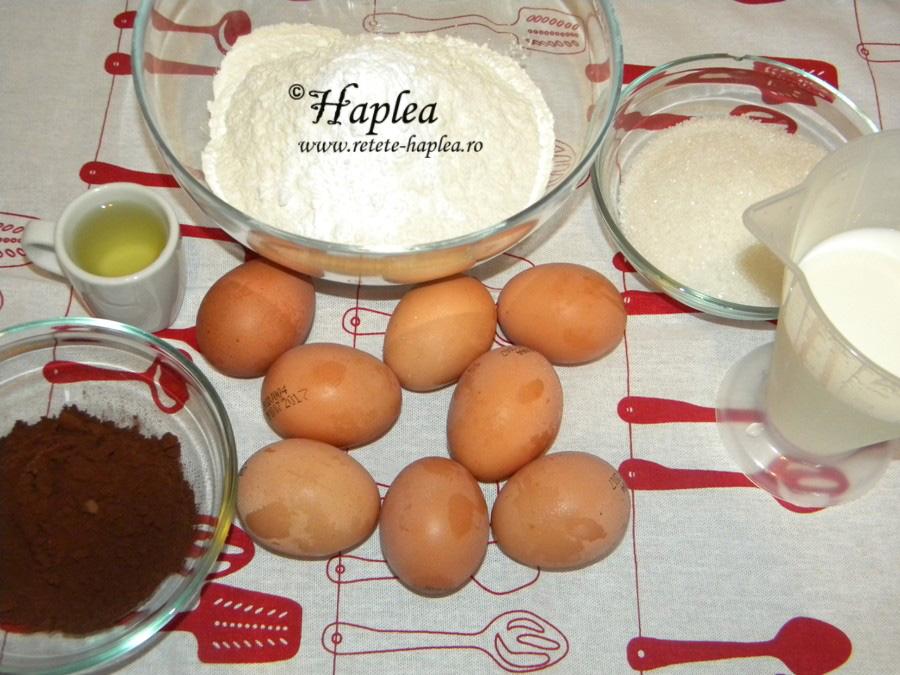 prajitura turnata cu branza si cacao poza 1