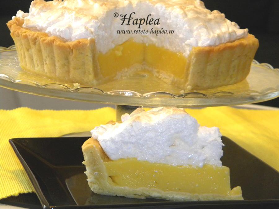 tarta cu crema de lamaie si bezea