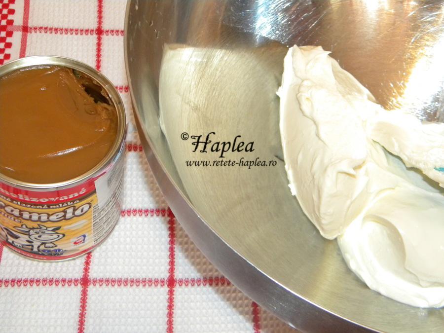 prajitura cu crema fina de caramel si mascarpone poza 6