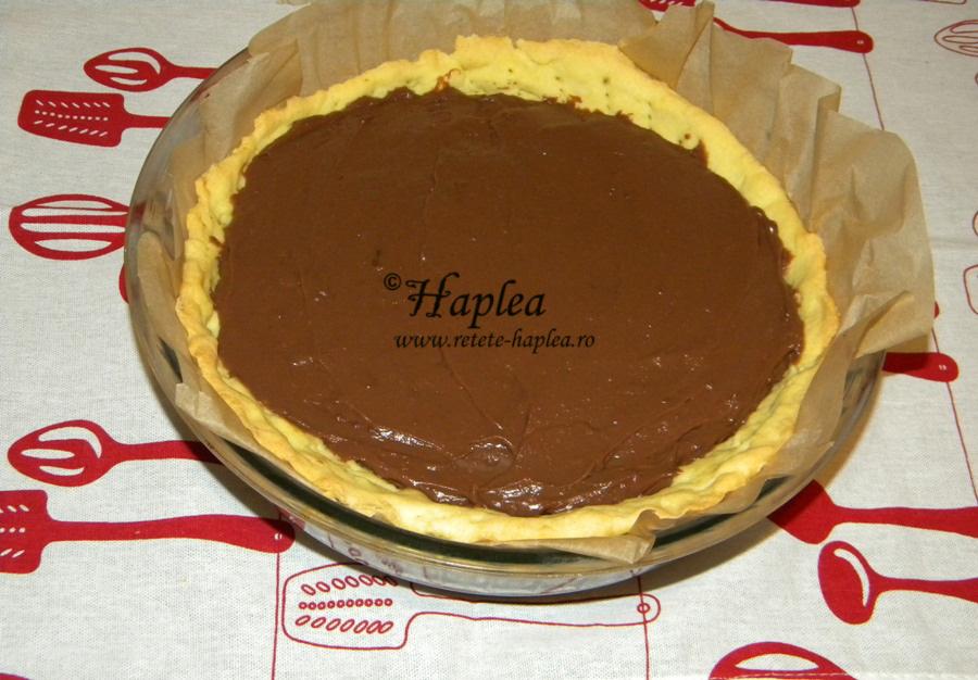 tarta cu crema de ciocolata si bezea poza 7