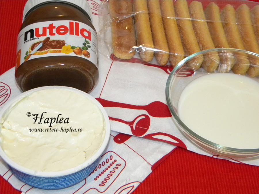 desert la borcan cu crema de nutella poza 1