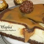 cheesecake cremos cu caramel si ciocolata poza final