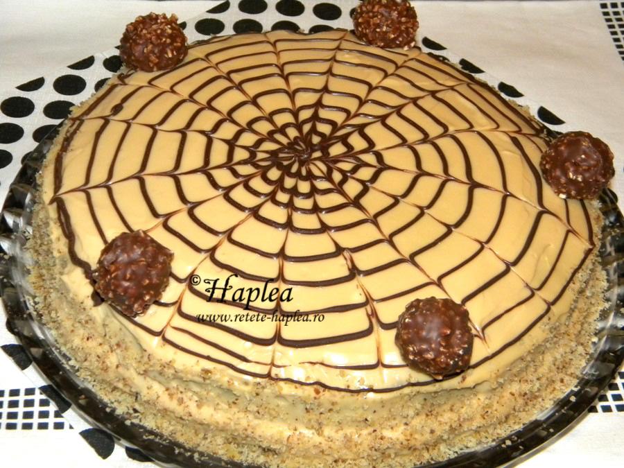 tort ciocolatos cu crema caramel