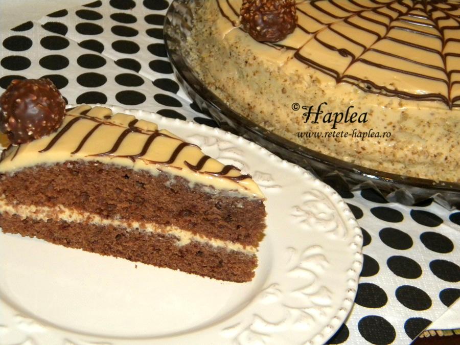 tort ciocolatos cu crema caramel poza 15