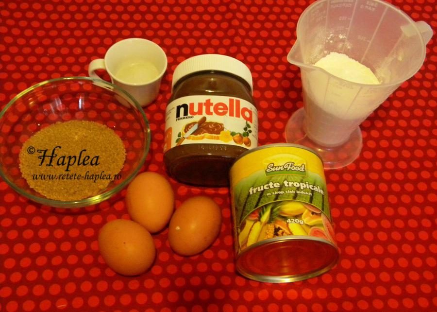 muffins cu nutella si fructe tropicale poza 1
