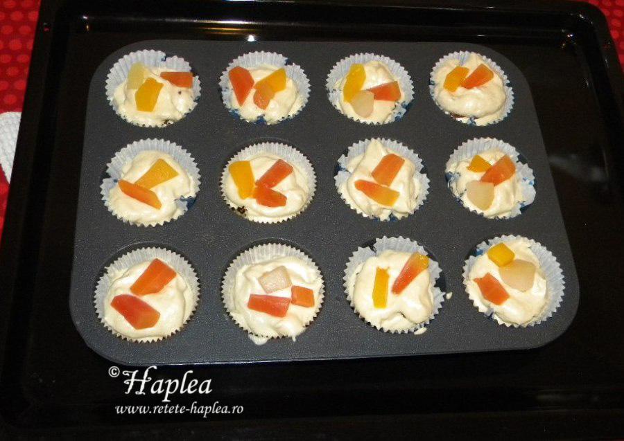 muffins cu nutella si fructe tropicale poza 6