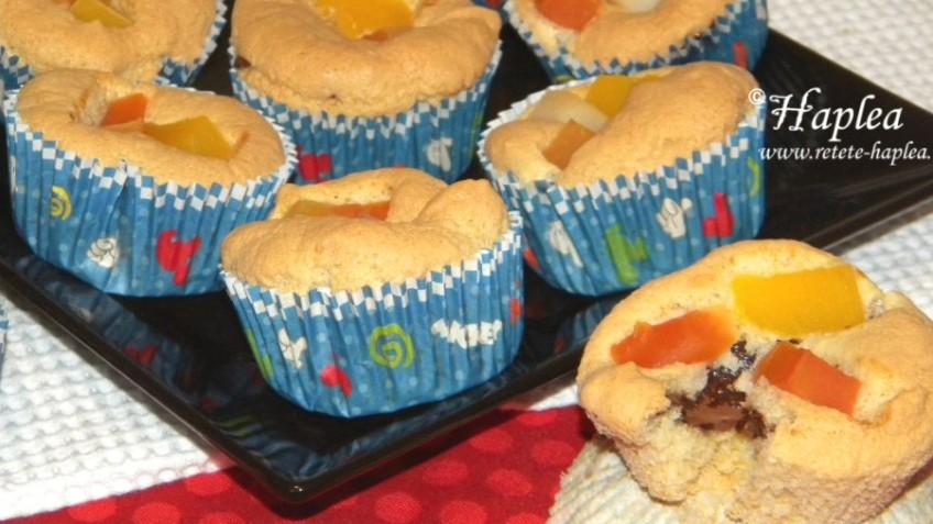 muffins cu nutella si fructe tropicale poza final
