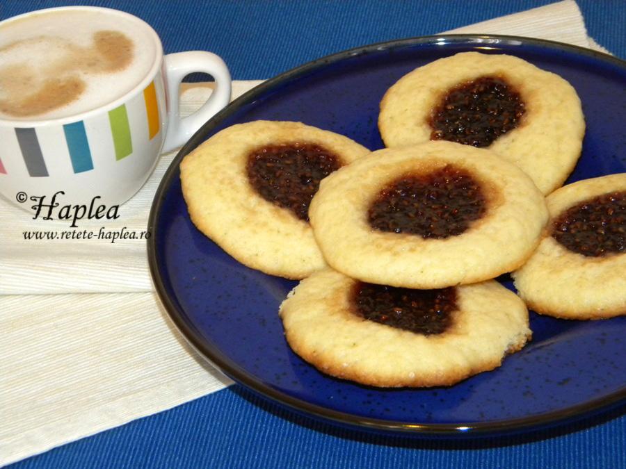 cookies cu gem de zmeura