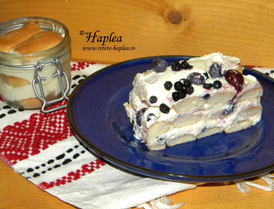 prajitura fara coacere cu fructe de padure