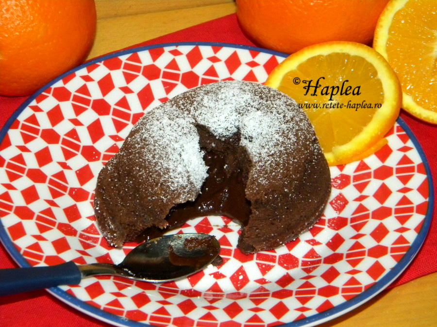 lava cake cu portocala